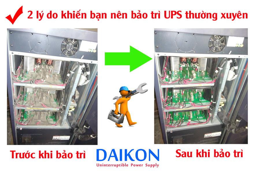 bảo trì UPS thường xuyên