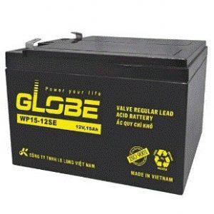 Bình ắc quy kín khí (AGM VRLA) Globe 12V-15Ah