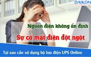 Lý do nên sử dụng UPS online