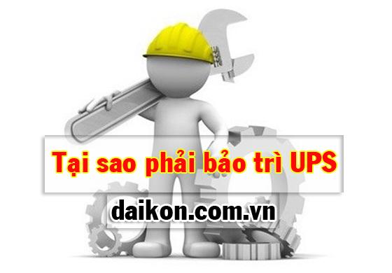 tại sao phải bảo trì UPS