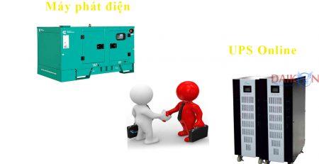 kết hợp máy phát điện và bộ lưu điện