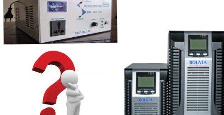 so sánh bộ lưu điện ups và bộ kích điện