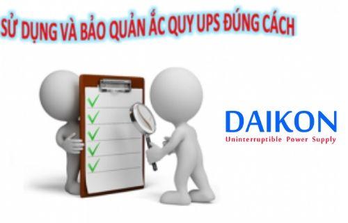 Sử dụng bảo quản bộ lưu điện UPS