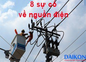 8 Sự cố nguồn điện thường xuyên gặp phải