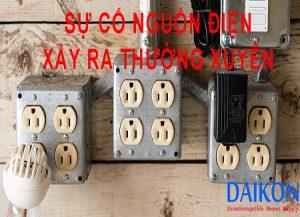 Sự cố nguồn điện xảy ra thường xuyên ảnh hưởng đến nhiều vấn đề