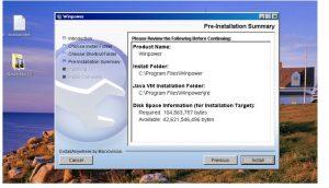 Giao diện cài đặt phần mềm Winpower bước 6