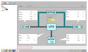 trạng thái hoạt động của UPS trên Winpower Santak