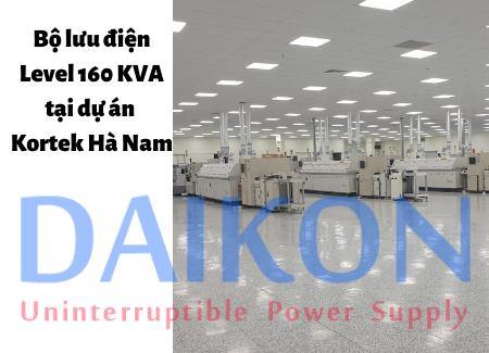 Bộ lưu điện Level 160 KVA tại dự án Kortek Hà Nam