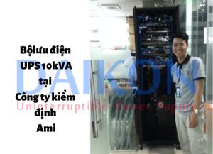Bộ lưu điện UPS 10kVA tại Công ty kiểm định Ami