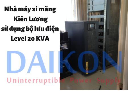 Nhà máy xi măng Kiên Lương sử dụng bộ lưu điện Level 20 KVA