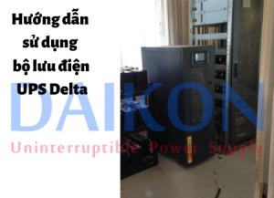 Hướng dẫn sử dụng bộ lưu điện UPS Delta