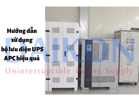 Hướng dẫn sử dụng bộ lưu diện UPS APC hiệu quả