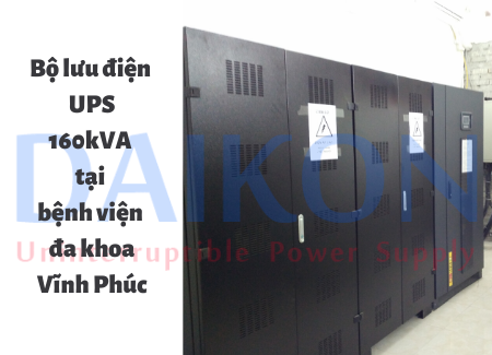 Bộ lưu điện 160kVA tại BVDK Vĩnh Phúc