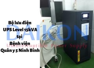 Bộ lưu điện UPS 15kVA tại BVQY5 Ninh Bình