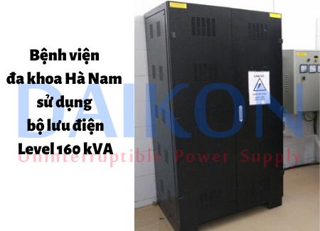 Bệnh viện đa khoa Hà Nam sử dụng bộ lưu điện Level 160 kVA